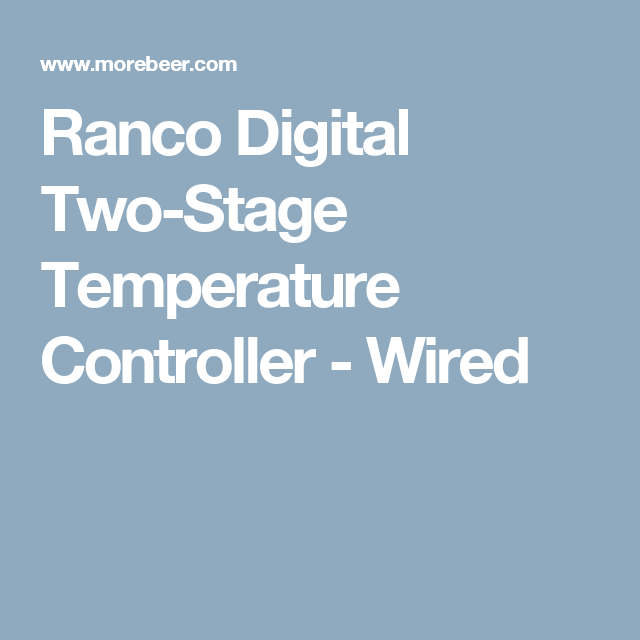 Ranco Digital Two Stage Temperature Controller Wired