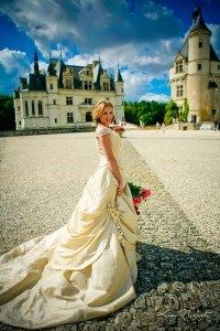 Fairytale wedding dresss in France at a Storytellers Events wedding