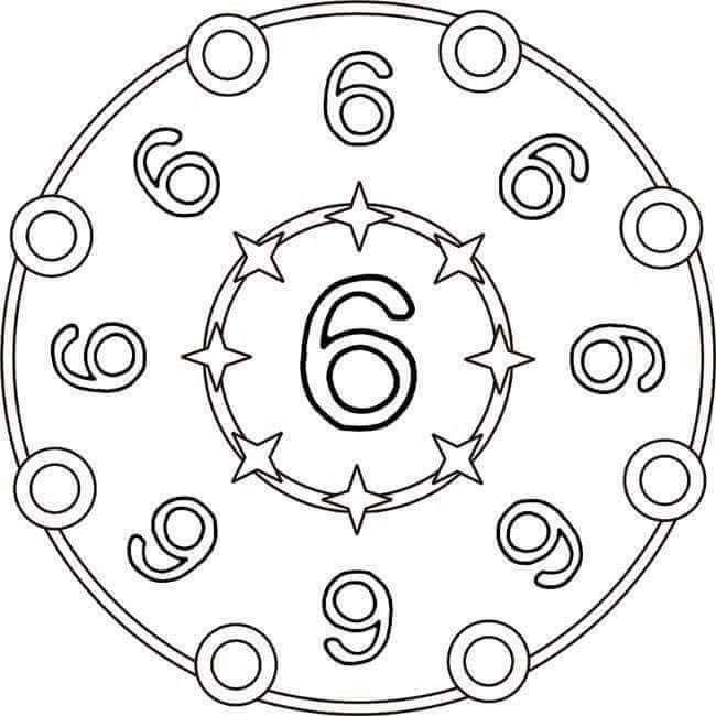 Sayi Mandalalari Boyama Boyama Sayfalari Mandala Matematik