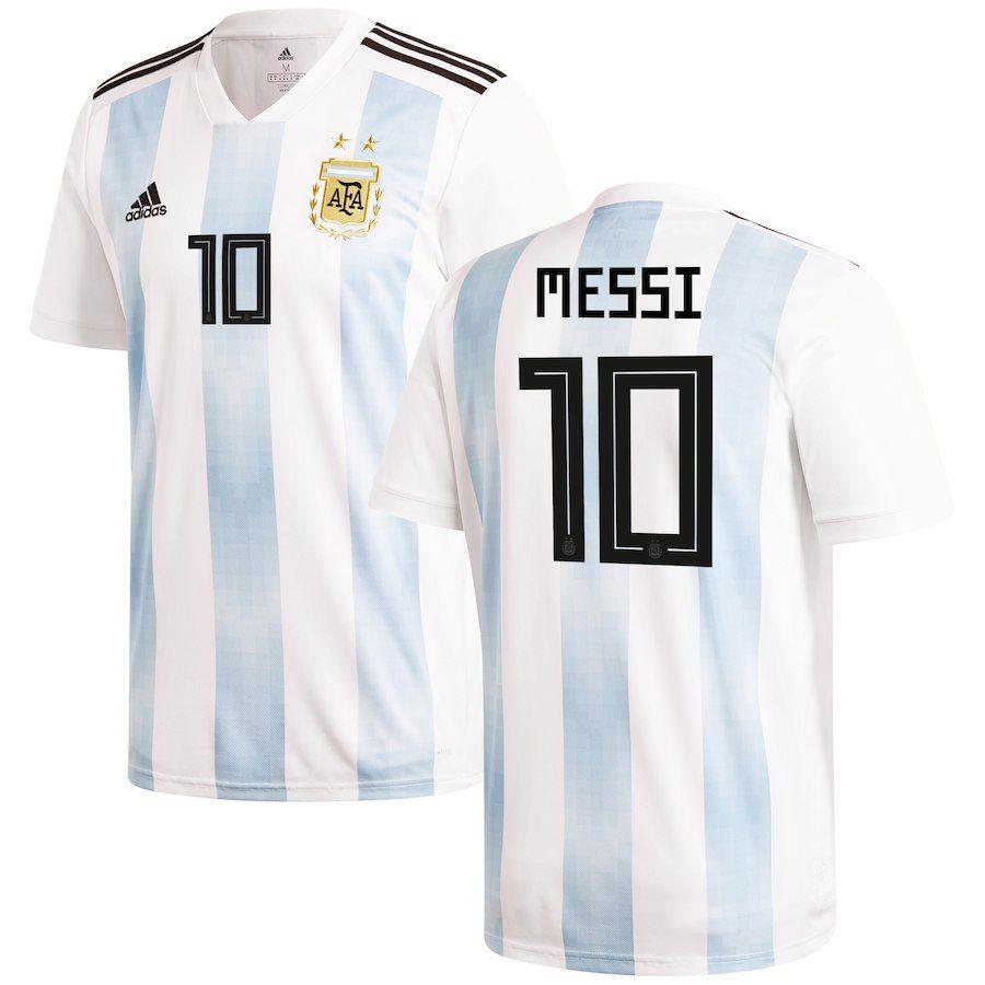 Camiseta 2018 Argentina #10 Messi match worn shirt World Cup
