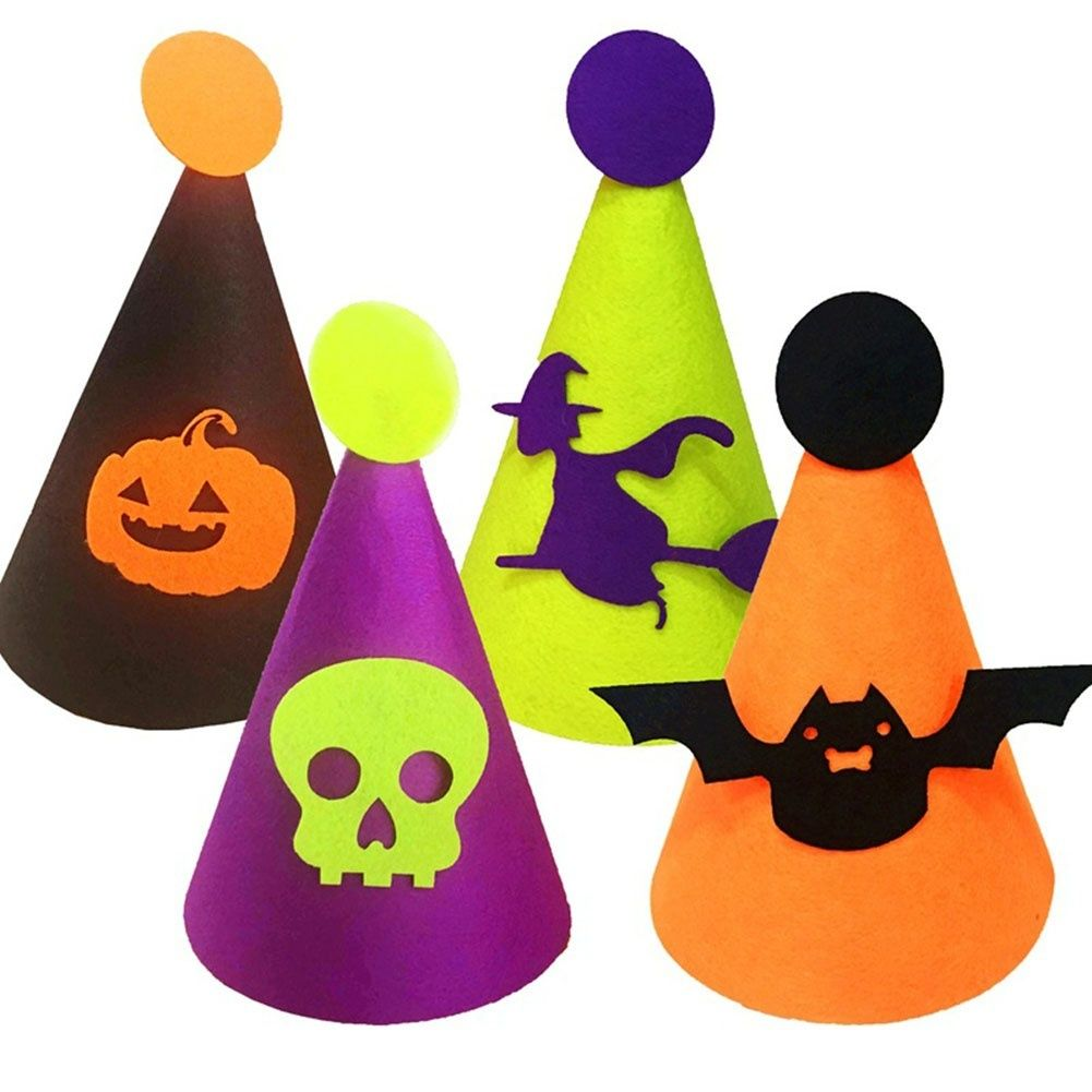 Creative kids felt hat for club party props Halloween decoration - Kids Halloween Decorations