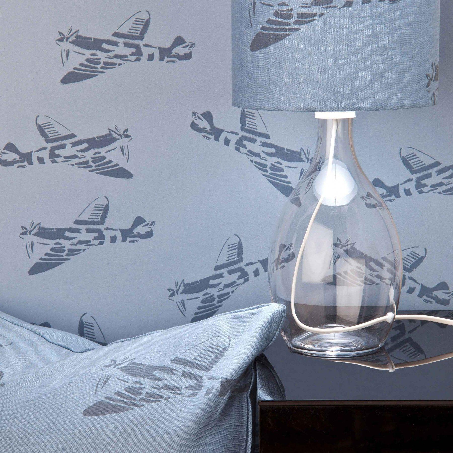 Modern Wallpaper For Bedrooms Blue Spitfire Wallpaper For Kids Spitfires Paperboy Planes