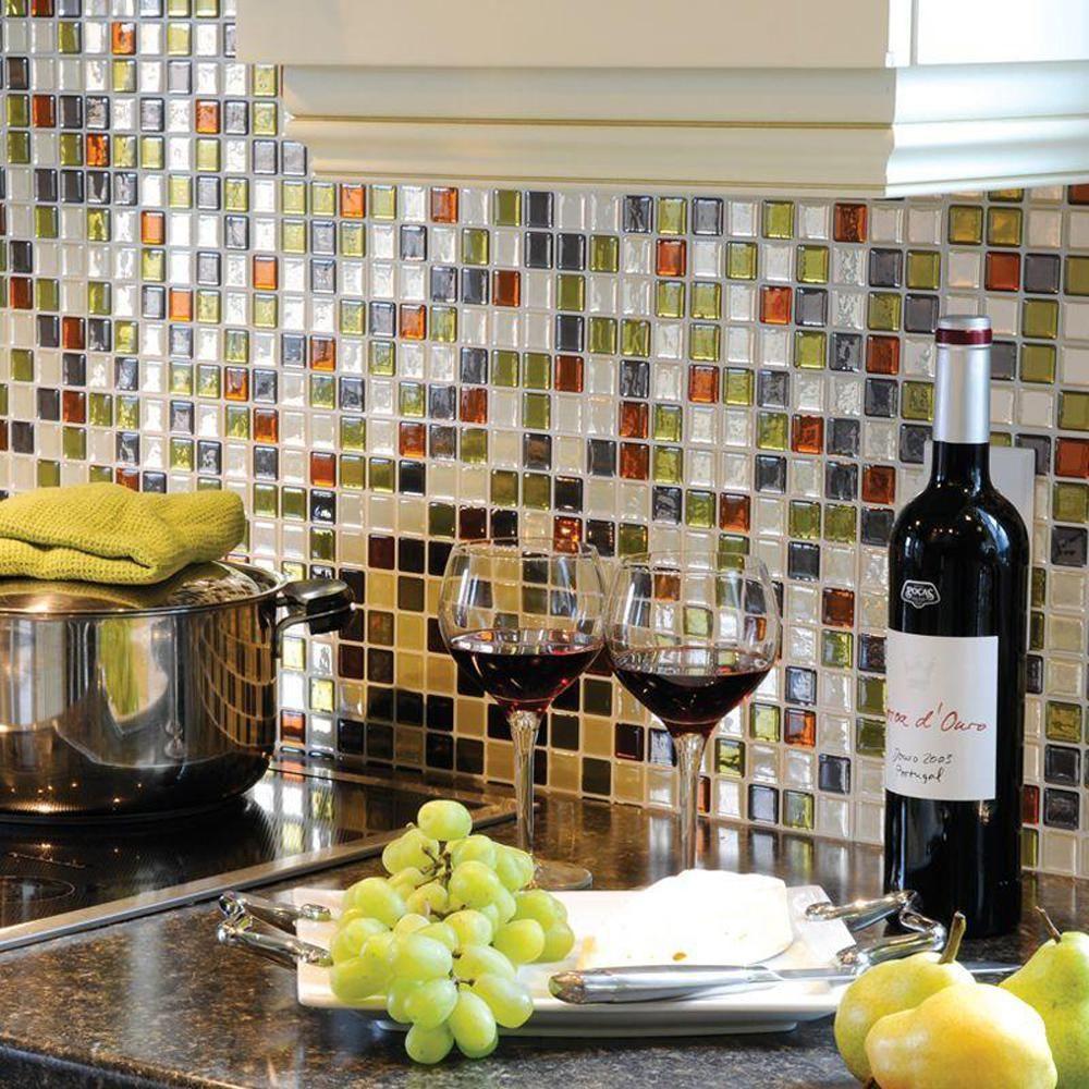 Idaho in w x in h decorative mosaic wall tile backsplash