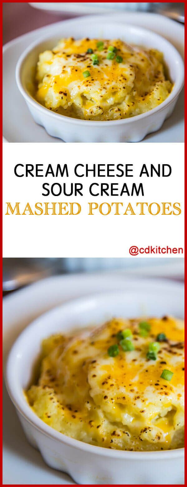 Cream Cheese And Sour Cream Mashed Potatoes Boiled Potatoes With Sour Cream C Sour Cream Mashed Potatoes Sour Cream Mashed Mashed Potatoes Recipe Sour Cream