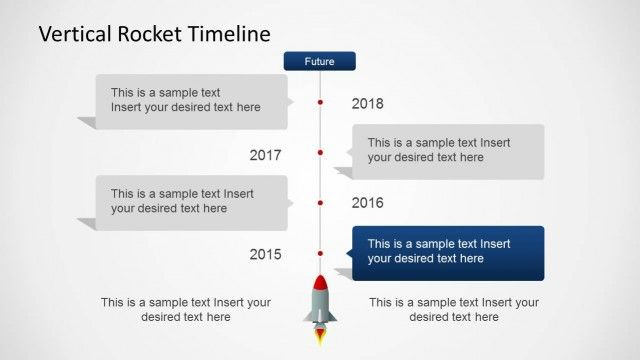 Vertical Rocket Timeline Template For Powerpoint  Timeline And