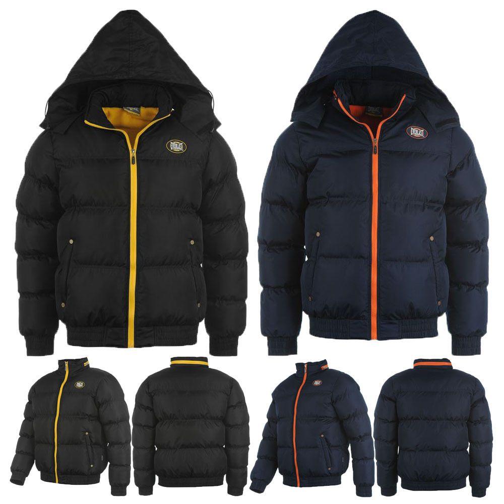 96eecc2de5b8 Everlast Hooded Bubble Fleece Lined Winter Jacket Mens New Size ...