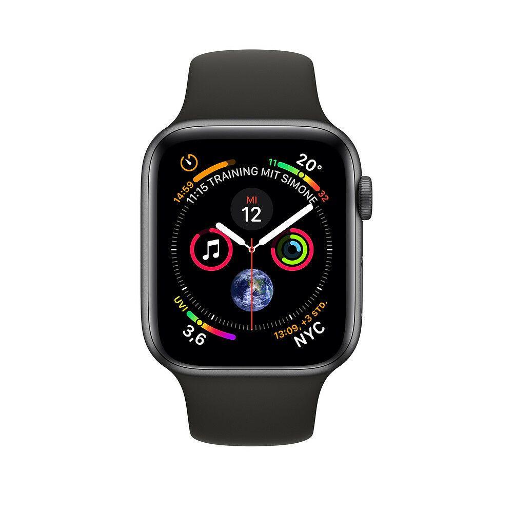 Apple Watch Series 4 44mm Gpscellular Space Graues Aluminiumgehause Mit Schwarz Smartwatch Apfeluhr Apple Watch Kaufen