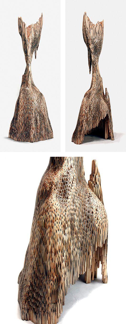 Pencil sculptures by jessica drenk inspiration grid
