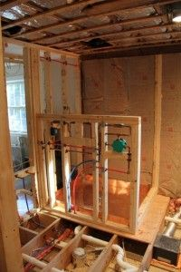 Installing A Shower Head In A Cold Exterior Wall Shower Plumbing Plumbing Kitchen Bathroom Remodel