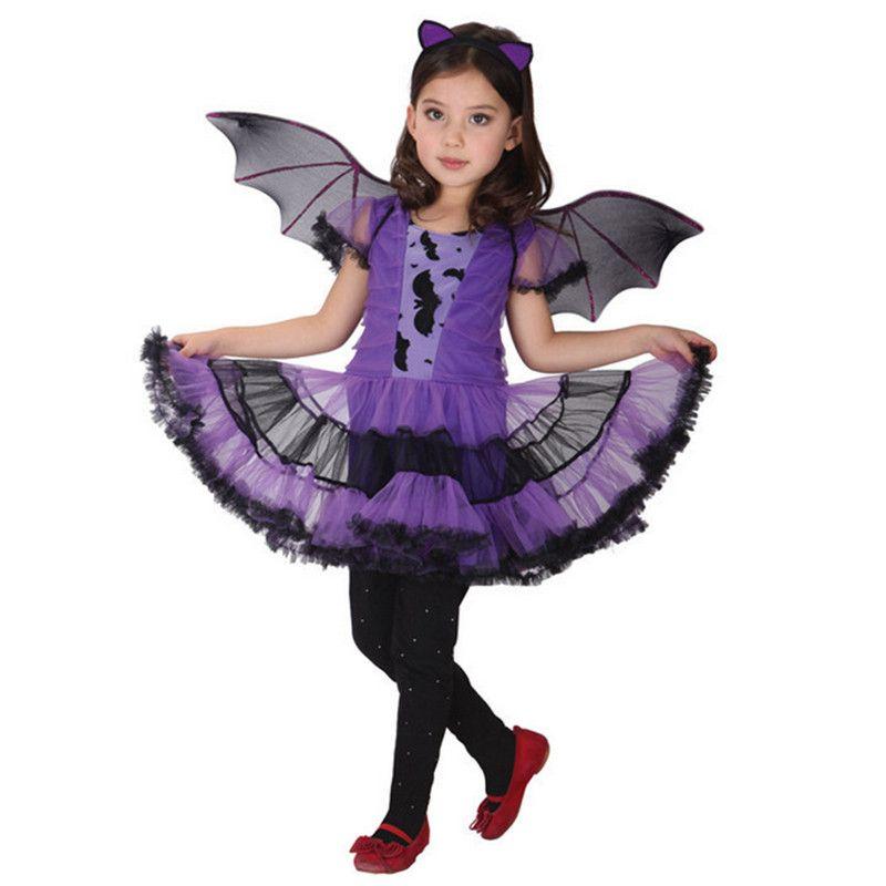 Nova alta qualidade Roxo Bat Chrismas Traje Trajes de Dança para ...