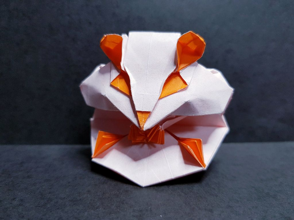 Hamster By Kim Ju Hyun Origami Design Origami Crafts Origami And Quilling