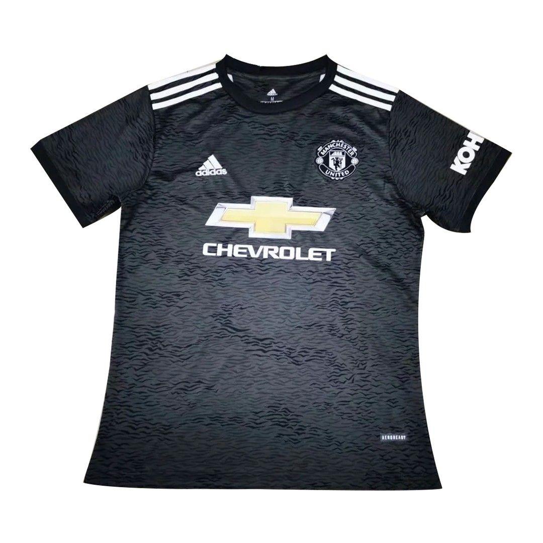 20 21 Manchester United Away Black Jerseys Shirt In 2020 Jersey Jersey Shirt Manchester United