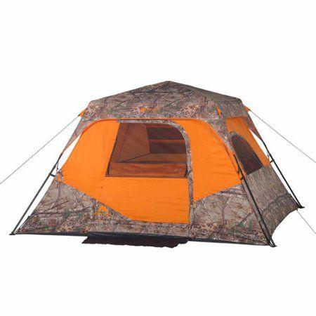 Ozark Trail Realtree Xtra 6 Person Instant Cabin Tent Orange  sc 1 st  Pinterest & Ozark Trail Realtree Xtra 6 Person Instant Cabin Tent Orange ...