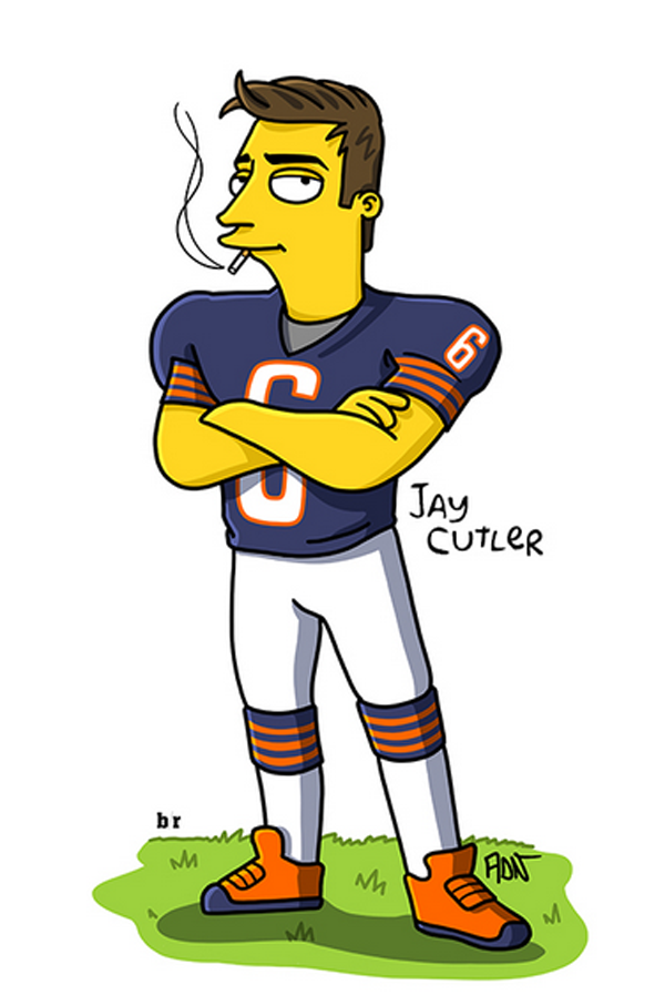 fa240b8f Your Favorite Football Players Simpsonized. (9) | Bears | Jay cutler ...