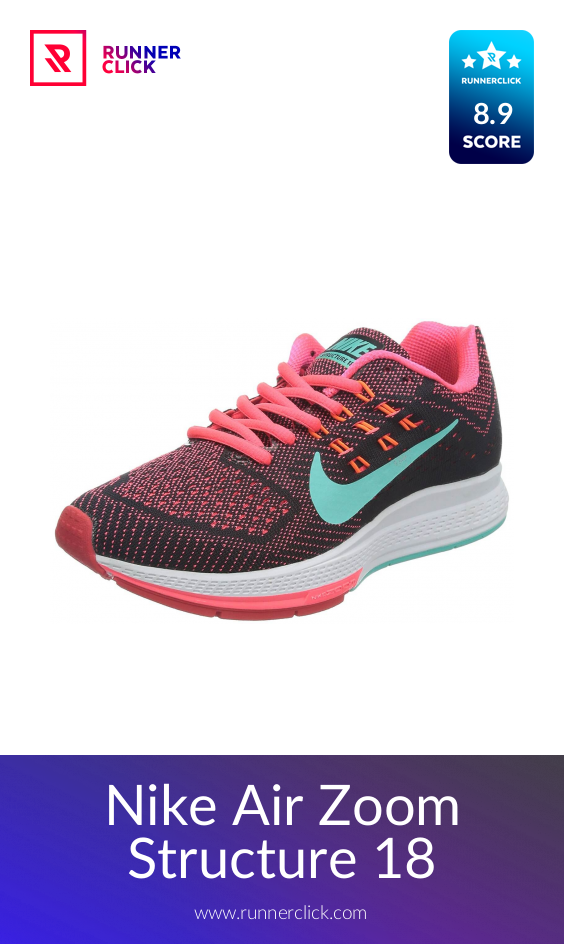 Nike Air Zoom Structure 18 Reviewed Compared In 2021 Runnerclick Nike Air Zoom Nike Running Shoes Nike