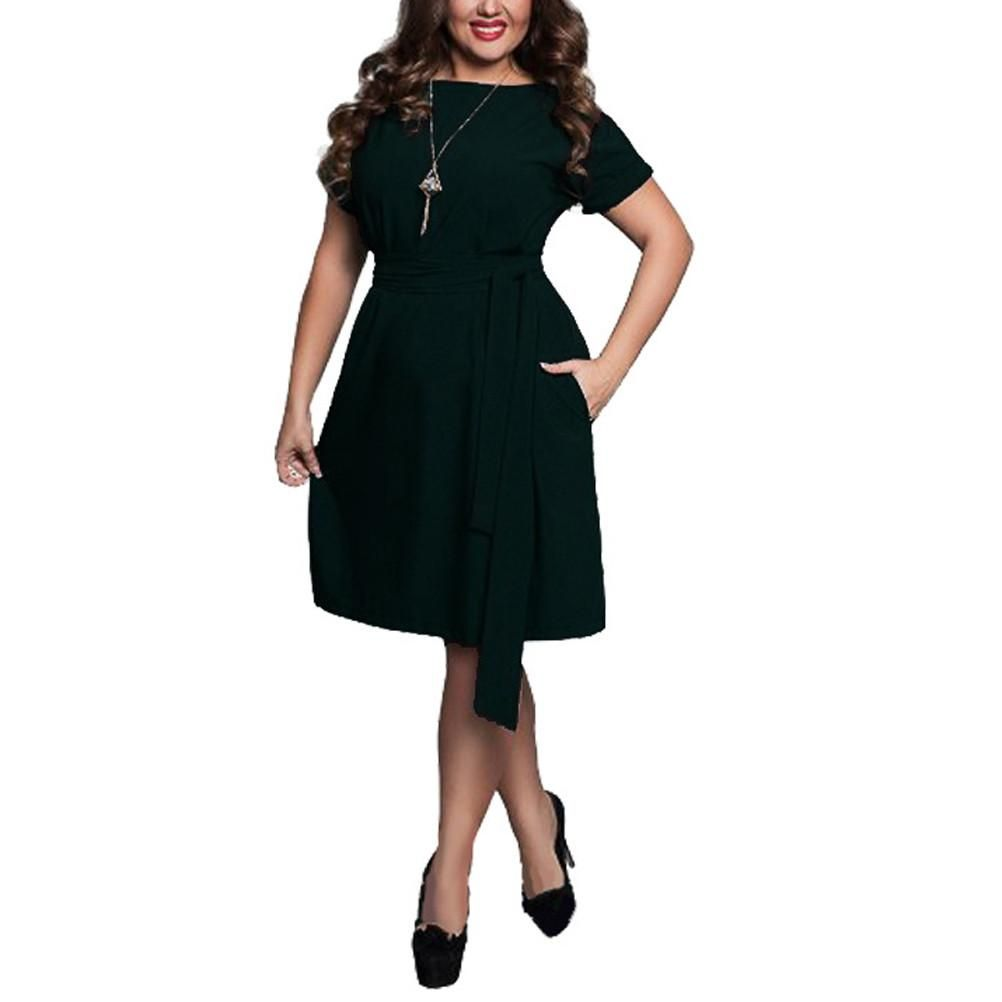Women plus size one piece dress sexy short sleeve casual tops party