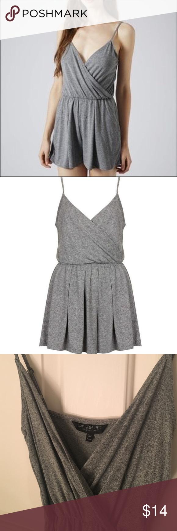 0d1daeb94aca Topshop gray romper Topshop Petites gray romper. A great wardrobe basic! Super  soft and