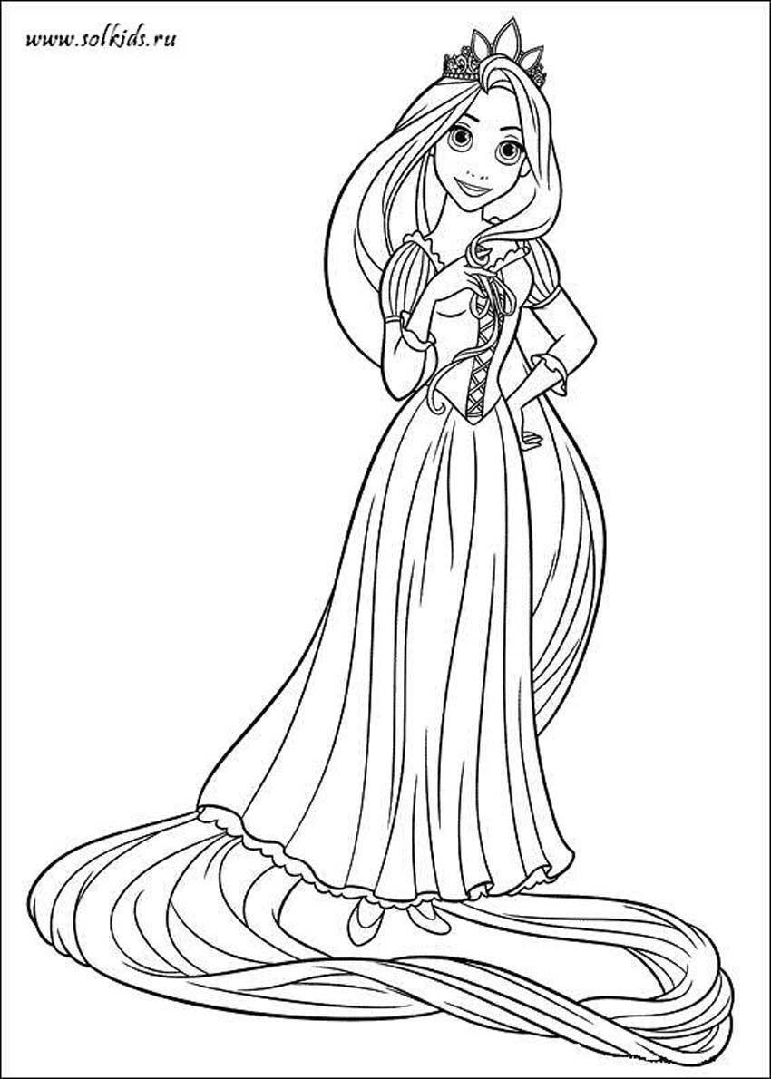Tangled Rapunzel Coloring Page Practical Scrappers Hayvan Boyama Sayfalari Boyama Kitaplari Boyama Sayfalari