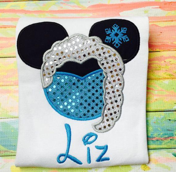 Frozen Princess Elsa Mickey Head  by SWDdesigns on Etsy