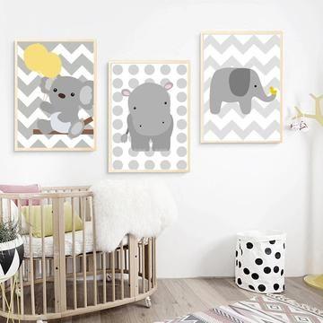 Affiches Koala Elephant Hippopotame Mon Alpaga Decoration