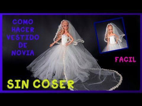 como hacer vestido de novia para muÑecas sin coser/como fazer