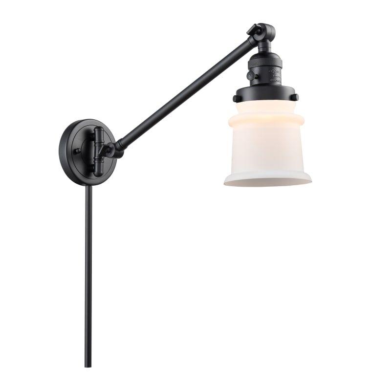 Photo of Innovations Lighting 237 Small Canton Small Canton Single Light 25″ Tall Bathroo Matte Black / Matte White Indoor Lighting Bathroom Fixtures Bathroom