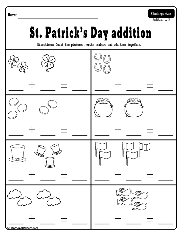 March Addition And Subtraction Worksheets For Kindergarten Kindergarten Addition Worksheets Kindergarten Subtraction Worksheets Kindergarten Math Worksheets Free