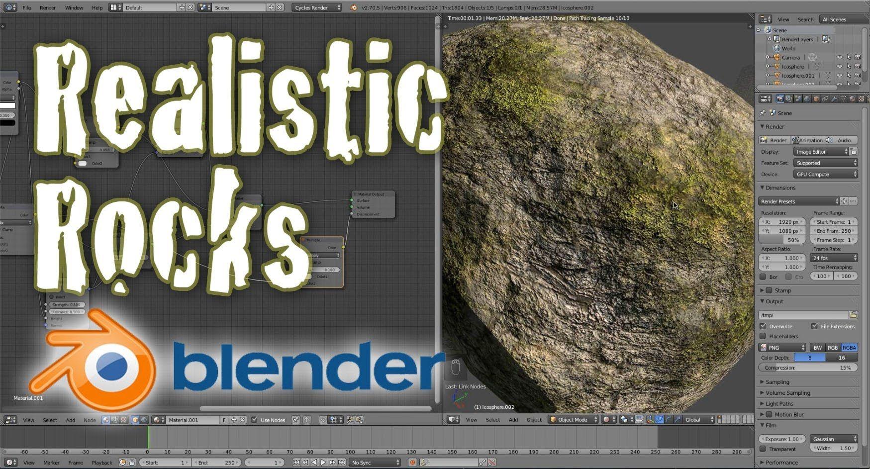 Create Realistic Low Poly Rocks Beginner Blender Tutorial