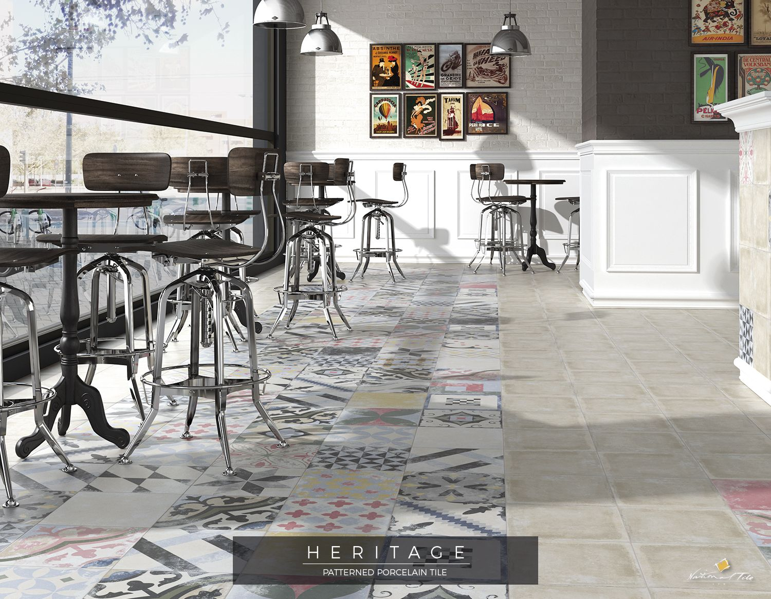 Coffee Shop / Food Hall / Restaurant / Patterned Tiles