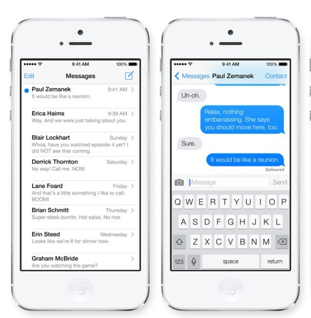 Messaging and Keyboard As you can see, iOS 7 has brought