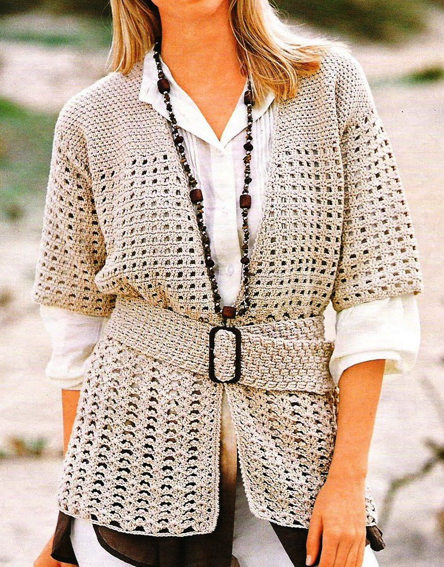 Ganchillo chaquetas mujer