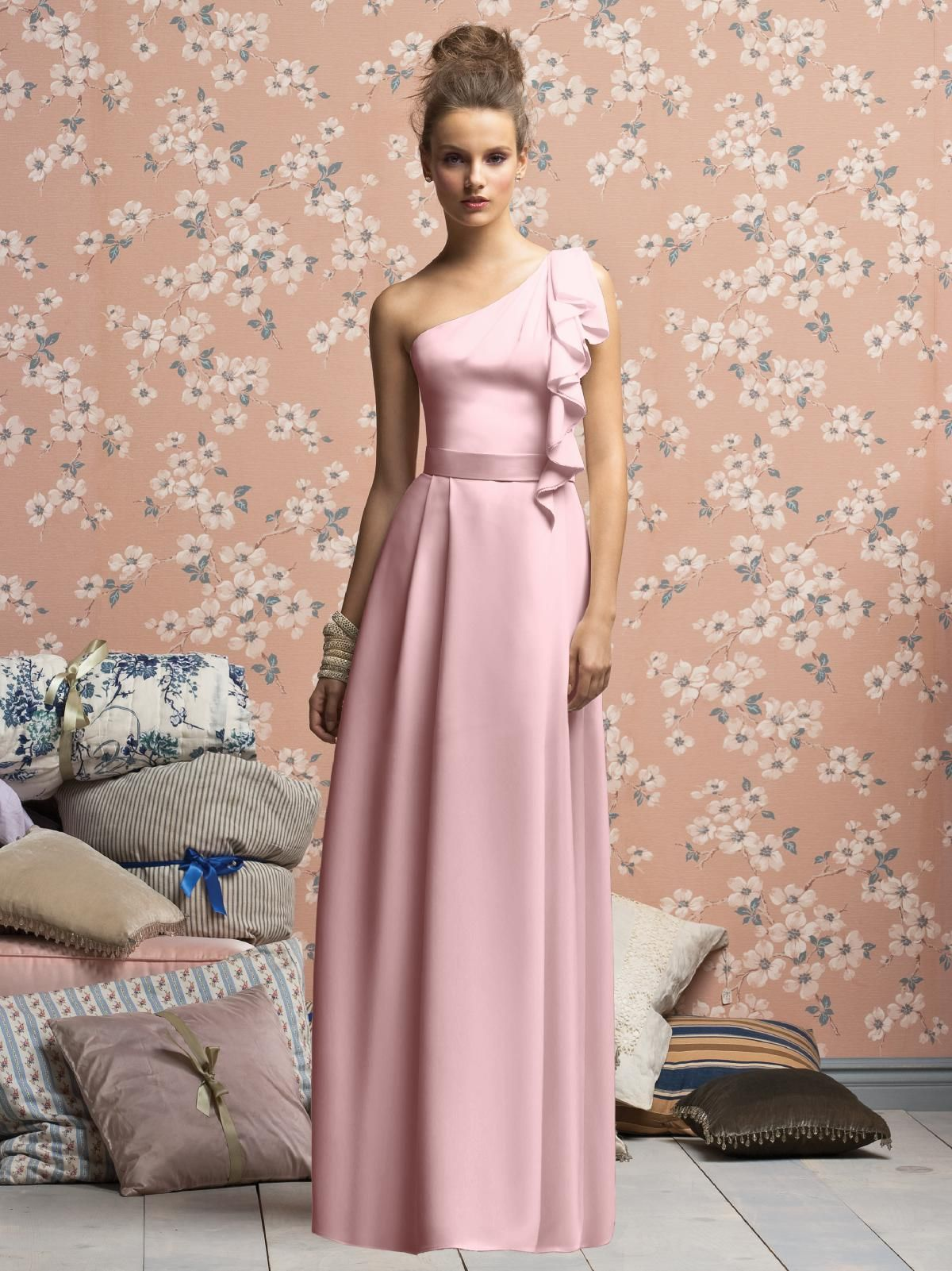 bridesmaid dress in petal pink | wedding dresses | Pinterest