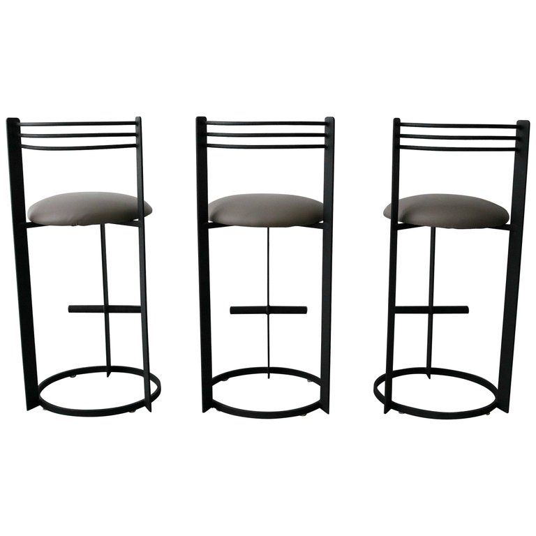 Set Of 3 Postmodern Italian Memphis Milano Minimalist Style Bar Stools In 2019 Products Bar Stools Stool Modern Bar Stools