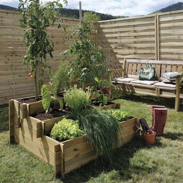 carr potager 3 etages en bois garden garden terrace. Black Bedroom Furniture Sets. Home Design Ideas