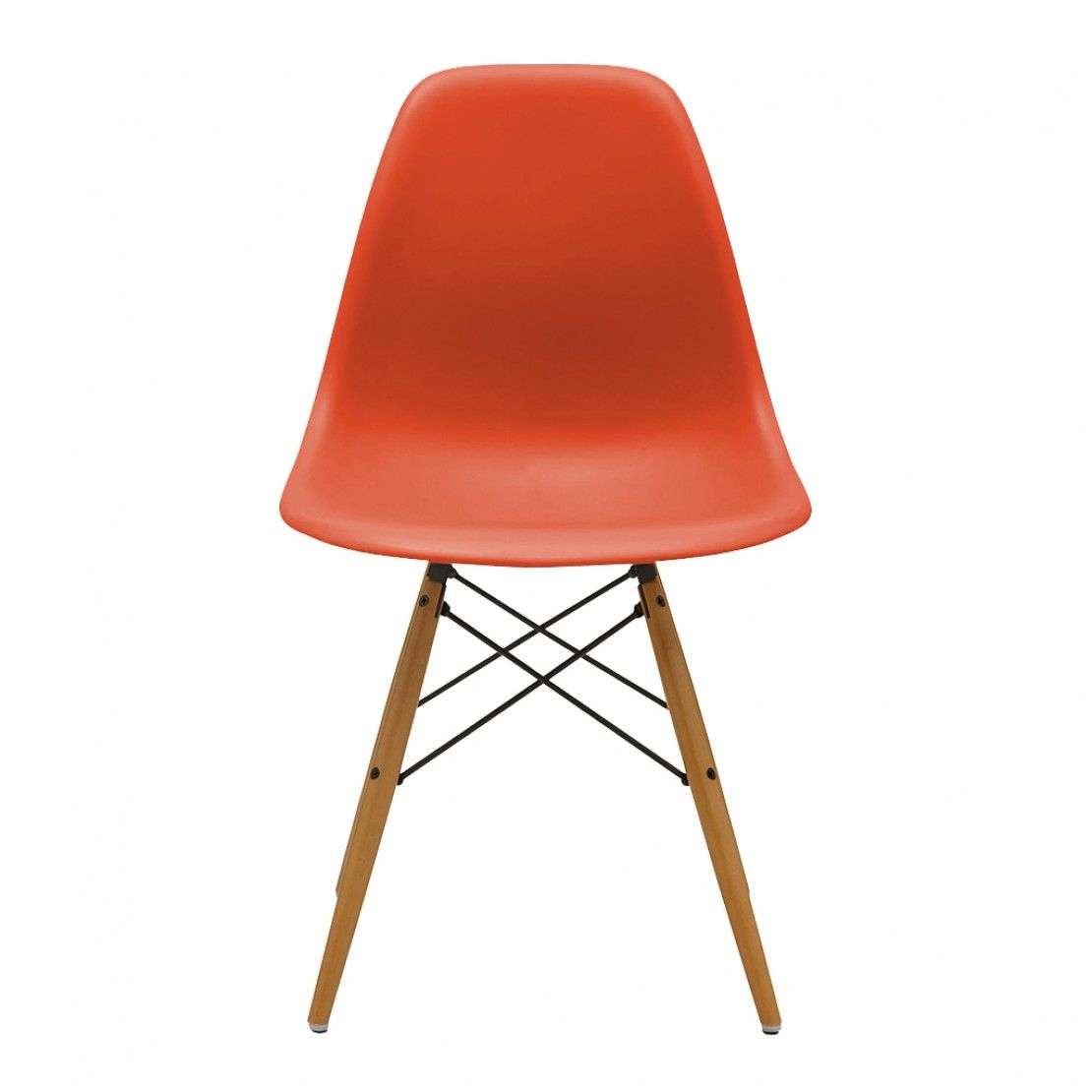Eames Dsw Chair Poppy Red Maple New Height Chaise Dsw