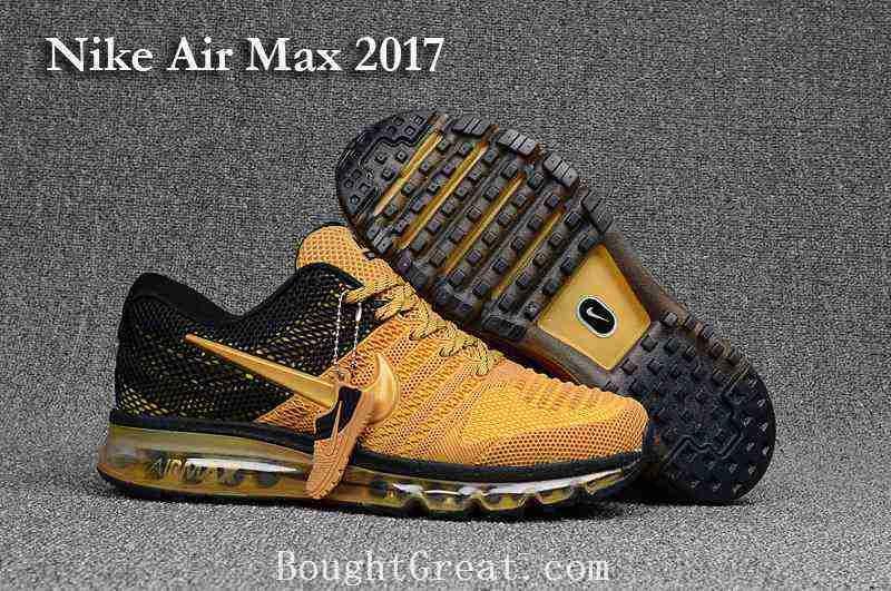 nike air max 2017 goud zwart