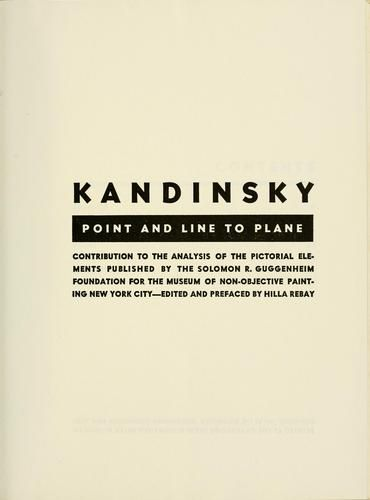 Point and Line to Plane by Kandinsky
