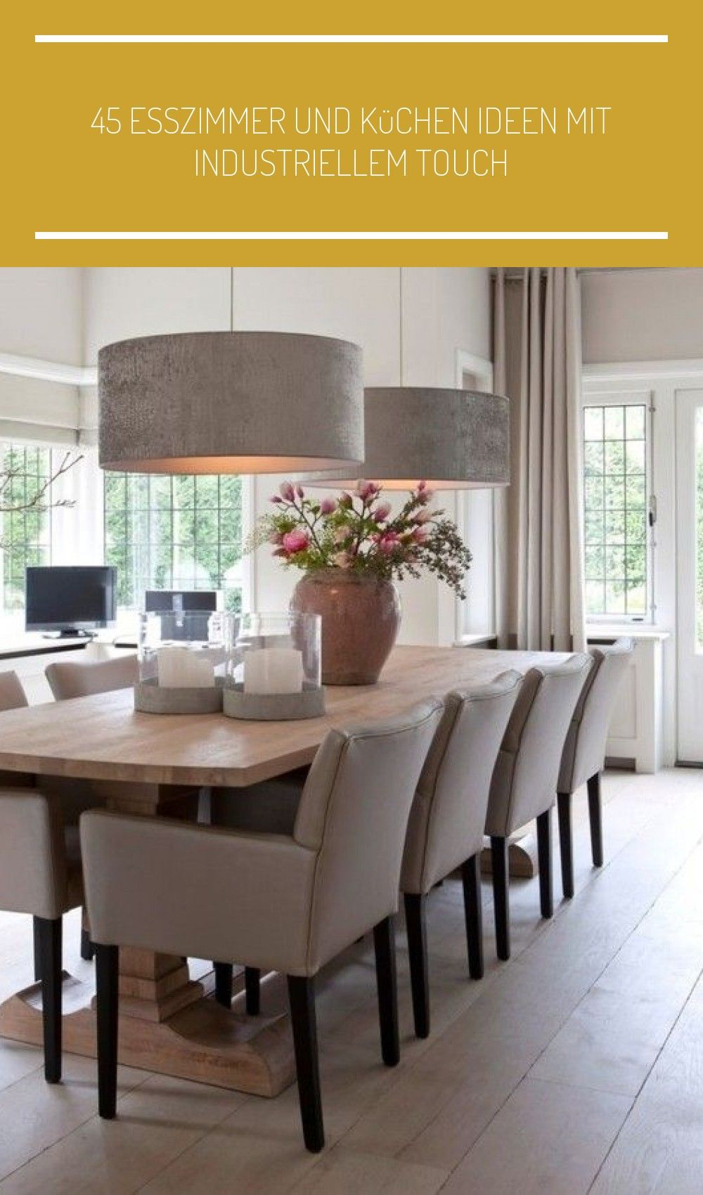 45 Esszimmer Und Kuchen Ideen In 2020 With Images Contemporary Dining Room Modern Dining Room Dining Room Design