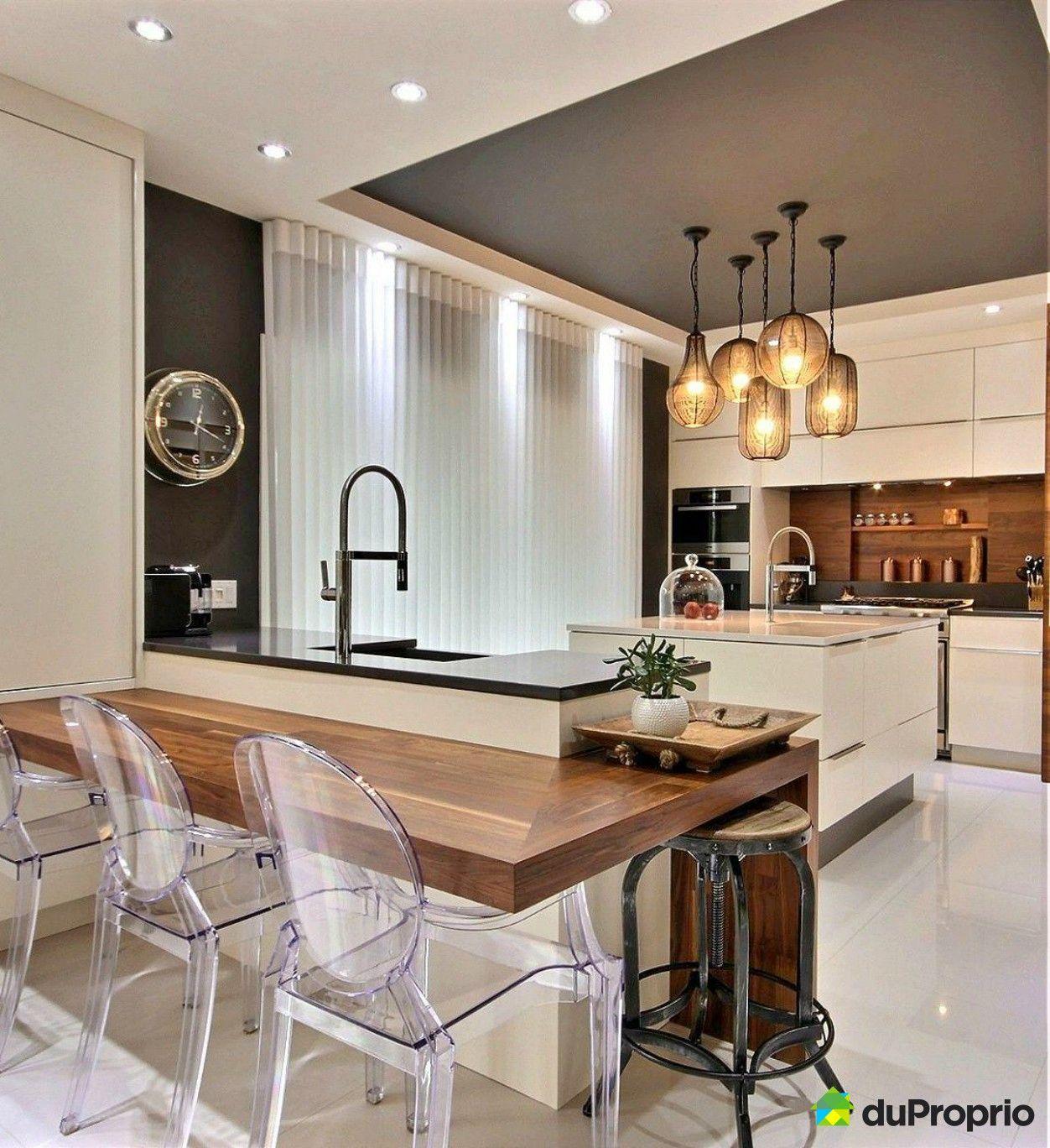 coup de foudre avec cette magnifique cuisine rustique contemporaine et design j 39 adore le. Black Bedroom Furniture Sets. Home Design Ideas