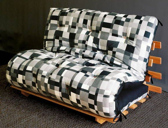 Sofa Cama De Futon Feito Com Tecido