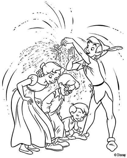 peter pan coloring pages for kids - Peter Pan Mermaids Coloring Pages
