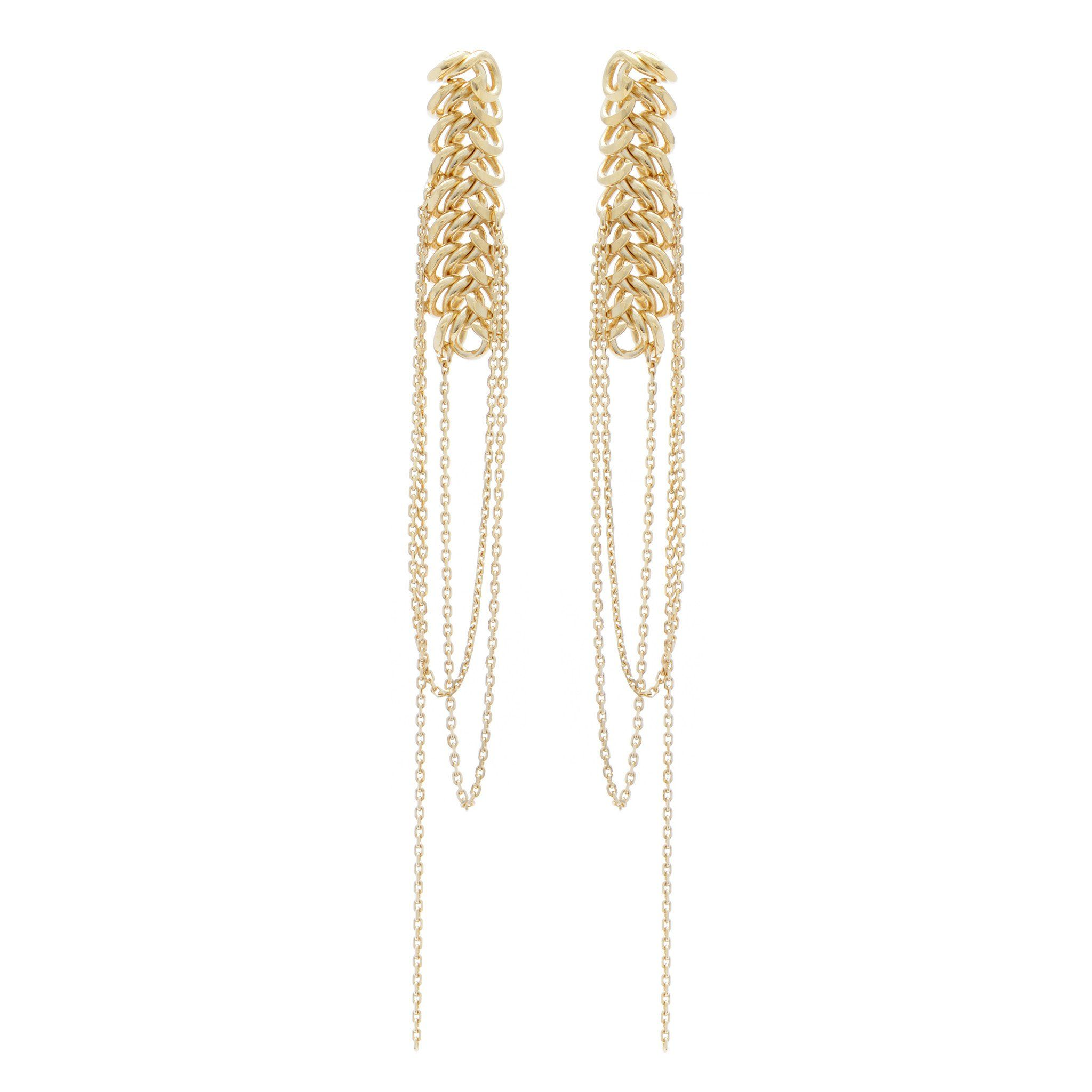 Statement chain earrings wouters u hendrix winter pinterest