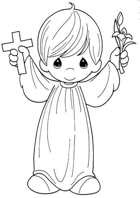 Precious Moments: Boy Image for First Communion. (With