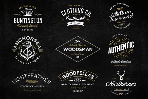 The Handmade Vintage Logo Bundle Vintage Logo Design Logo Design Inspiration Vintage Vintage Logo
