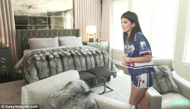 Private: Kylie Jenner gave fans a virtual tour of her bedroom, private sitting area and bathroom on her app TheKylieJenner on Monday
