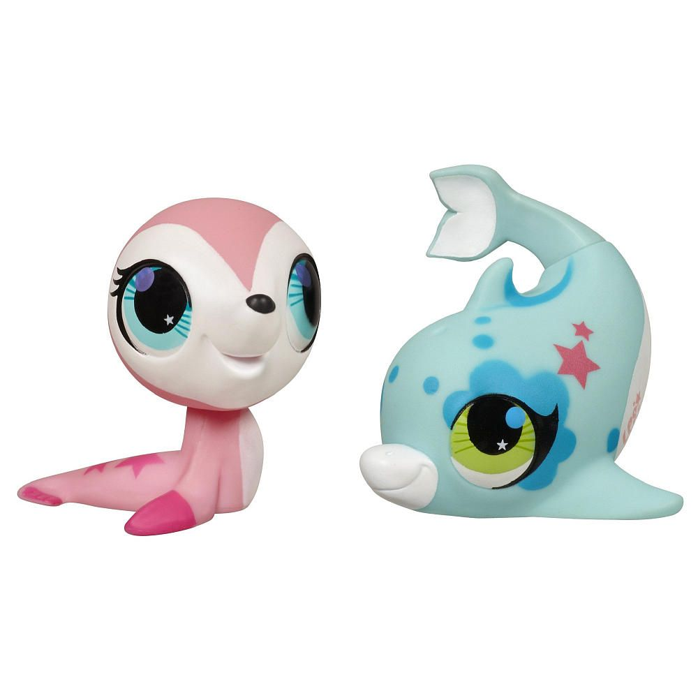 Littlest Pet Shop Totally Talented Pets Figures Sealdolphin
