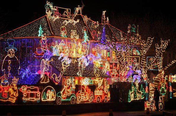 Suburbia Lights Up For Christmas in UK christmas Pinterest