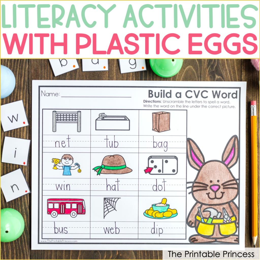Easter Egg Literacy Activities For Kindergarten Freebies