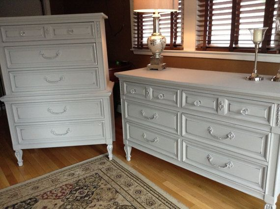 Best Soldsilver Grey Dresser And Bureau Set By Wisteriaave On 640 x 480