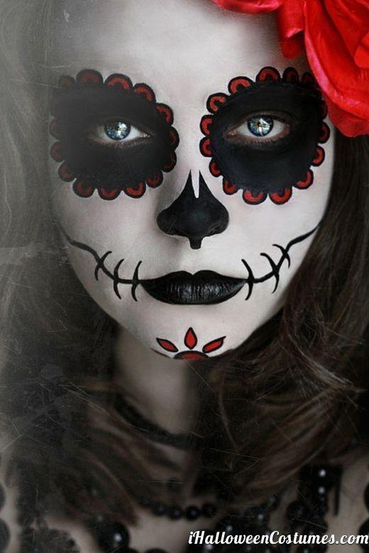 day of the dead halloween makeup sugar skull dia de los muertos